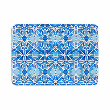 "Art Love Passion ""Blue Diamonds"" Blue Aqua Memory Foam Bath Mat"