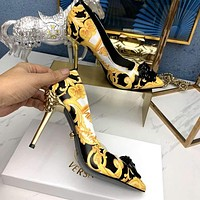 Versace Women Fashion Casual High Heels sandals Slipper Shoe