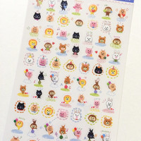 Animal Schedule Stickers for Life Planner, Scrapbook, Small Crafts
