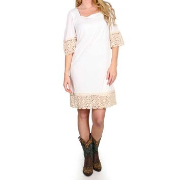 Wrangler Women's Crochet Trim Vanilla Dress - LWD511N