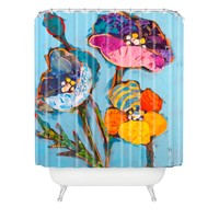 Elizabeth St Hilaire Nelson Poppy Number 3 Shower Curtain