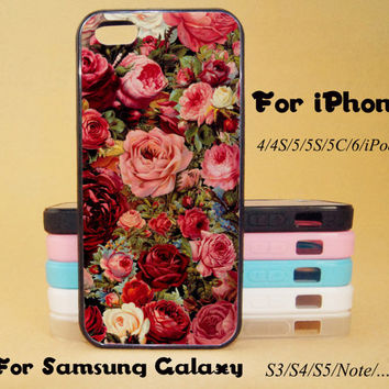 Rose, Flower, Floral,iphone 5 case,iPhone 5C Case,iPhone 5S Case,iPhone 4 Case, iPhone 4S Case,Galaxy Samsung S3, S4,S5