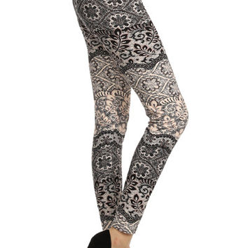 NEW!! Floral Lace Print Leggings!!
