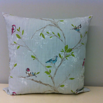Linen pillow Cover,Bird Pillow,Linen Pillow,Designer linen Pillow,Throw pillow,Linen decorative pillow,Kissen,Bird Linen cushion case covers