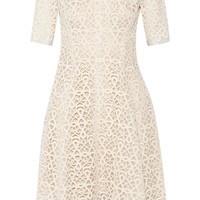 Lela Rose - Guipure lace and organza dress