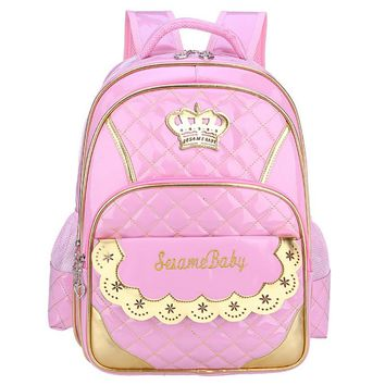 New Kawaii Children School Bags for Girls Princess backpacks Schoolbag Mochila Kids book bag waterproof school shoulder bag
