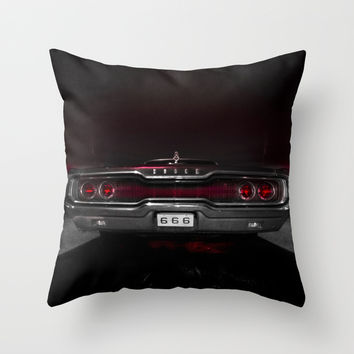 666 Throw Pillow by HappyMelvin
