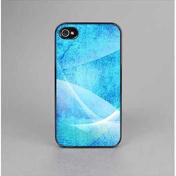 The Blue DIstressed Waves Skin-Sert Case for the Apple iPhone 4-4s