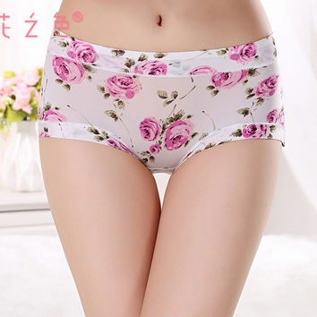women panties 95% polyester 5% spandex Underwear ladies seamless sexy briefs print love lingerie calcinhas intimates underpants