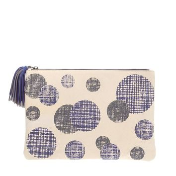 ASOS Leather Clutch Bag With Etched Print