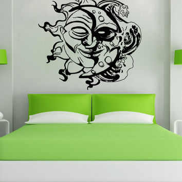 Vinyl Wall Decal Sticker Sun and Moon Design #OS_AA1727