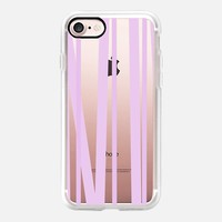 Lavender Stripes (transparent) iPhone 7 Case by Lisa Argyropoulos | Casetify
