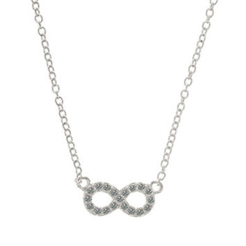 Judith Jack Sterling Silver and Crystal Infinity Pendant Necklace