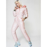 Iridescent Snow Queen Puffer One-Piece