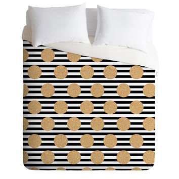 Allyson Johnson Dots N Stripes Duvet Cover