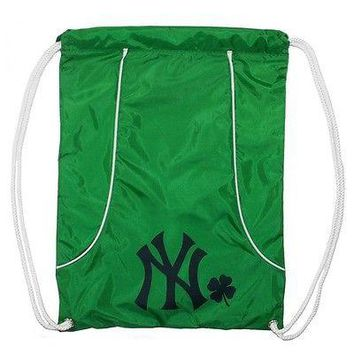 Brand New NWT MLB New York Yankees Green Axis Backsack St. Patricks Day