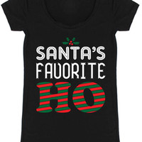 Santa's Favorite Christmas Holiday Graphic T-Shirt