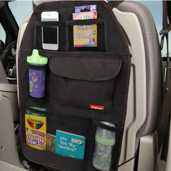 1PCS Waterproof Car Auto Multi Pocket Storage Bag Vehicle Car Seat Organizer Storage Bag For Book Bottle Car Accessories