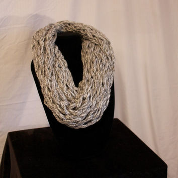Grey Knit Scarf