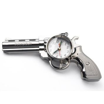 HGHO-Novelty Pistol Gun Shape Alarm Clock Desk Table Home Office Decor Gifts