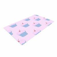 "NL Designs ""Pink Cupcakes"" Blue Blush Woven Area Rug"