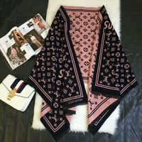 LV Louis Vuitton X Supreme Trending Woman Accessories Cape Scarf Scarves Pink I-TMWJ-XDH