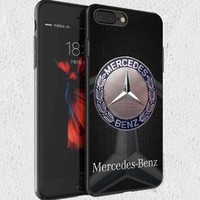 Special! Luxury Mercedes Benz Sr8 Emblem Cover For iPhone 7 7+ Hard Plastic Case
