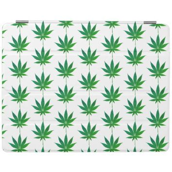 Funky Green Leaves Apple Ipad Cover