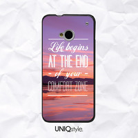 Life quote phone case with sunset view for HTC one m7, m8 - htc one mini, one max - Nokia lumia 520, 920, 1520 - soft case / hard case - E83