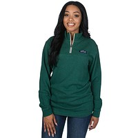 Heathered Whitacre Pullover in Evergreen by Lauren James - FINAL SALE