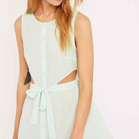 Cooperative by Urban Outfitters Side Cut-Out Dress in Mint - Urban Outfitters