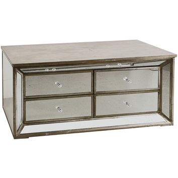 Mirrored Four Drawer Cabinet
