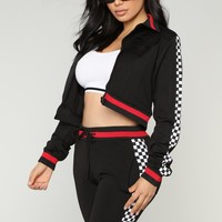 Race Me There Jacket - Black