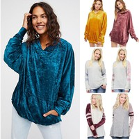 Women's Pullover Hooded Sweatshirt Winter Jumper Long Sleeve Hoodie Tops Blouse