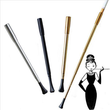 Free shipping Women's long series retractable vintage cigarette holder smoking weed pipe or Photographic props