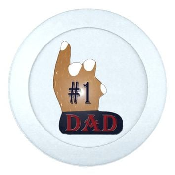 #1 Dad Ebony Teak Button Covers