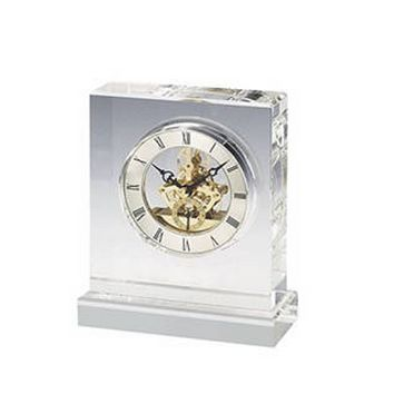 Personalized Free Engraving Crystal Desk Rectangle Clock