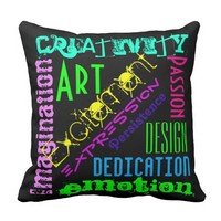 Artistic Expression Colorful Pillow