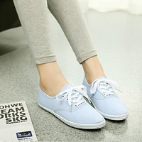 Women's spring canvas shoes female white shoes breathable Chao Literature student shoes female foreign trade shoes
