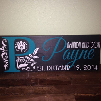 Personalized Wooden Family Anniversary Sign