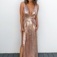Perfect Romance Dress: Rose Gold
