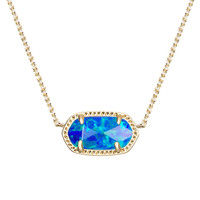 Elisa Pendant Necklace in Royal Blue Kyocera Opal - Kendra Scott Jewelry