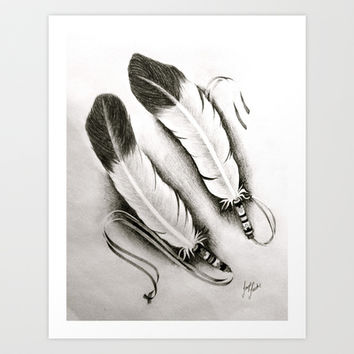 Native Feathers Art Print by Taylor Tucker