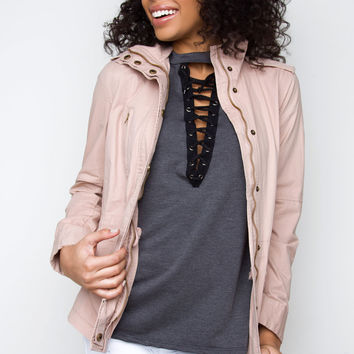 Military Jane Jacket - Blush