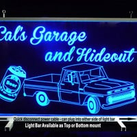 Man cave sign personalized with Truck and Beer Can