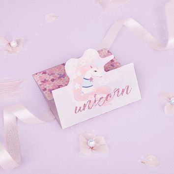 5 Sets Unicorn Card Birthday Party Decorations Kids Unicorn Party Decoration Wedding Gifts for Guests Unicornio Theme Wedding. B