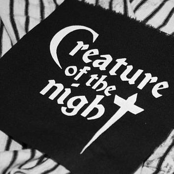 Creature of the Night patch - goth patch, gothic patches for jackets, vampire patch, horror dracula,  motorcycle jacket, rocky horror show,