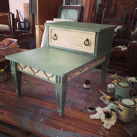 End table, table, coffee table, side table, furniture, painted furniture, girl UPcycled