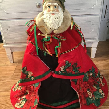 """5 DAY SALE (Ends Soon) Vintage Hand Painted 23"""" Old World Santa Clause"""