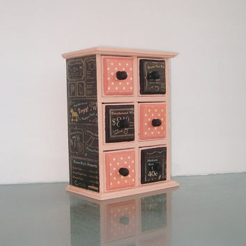 Pink and Black Box by StrictlyCute on Etsy